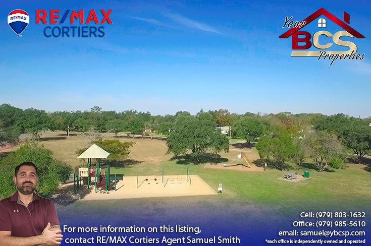 eastgate neighborhood college station texas aerial view of park with childrens play area