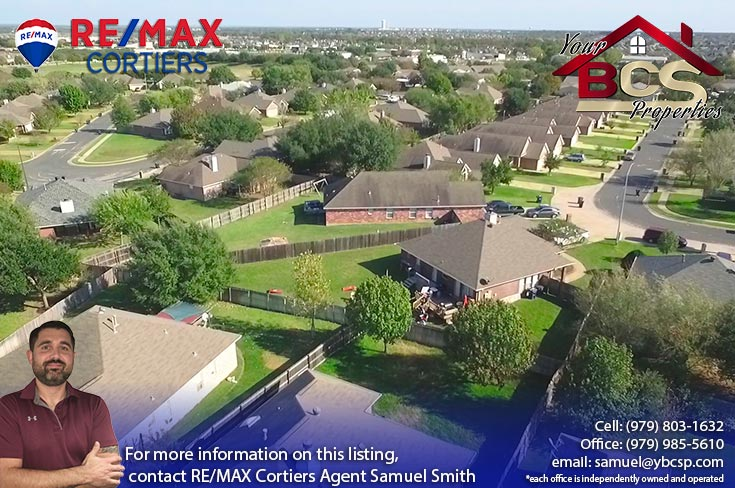 edelweiss estates subdivision college station texas aerial view of neighborhood