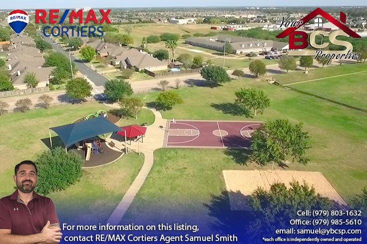 edelweiss estates subdivision college station texas aerial view of park