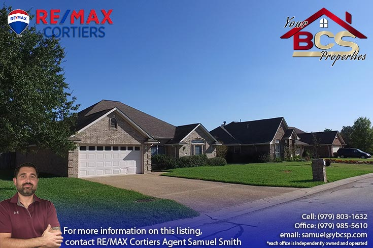 edelweiss estates subdivision college station texas home with curb appeal