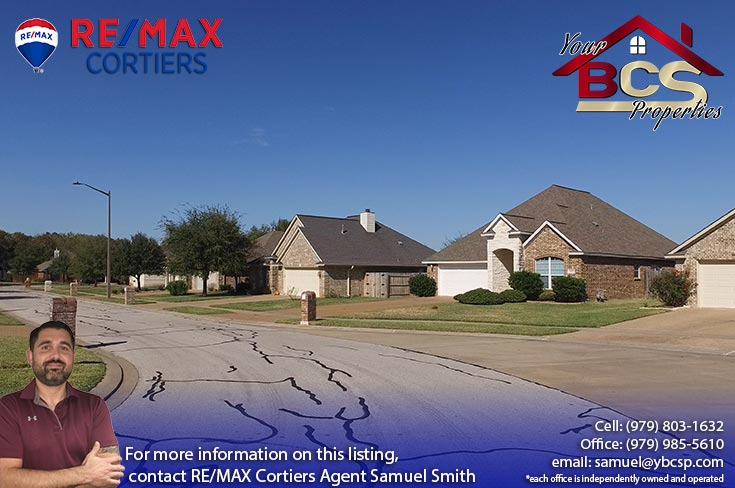 edelweiss gartens subdivision college station texas street view of suburban home