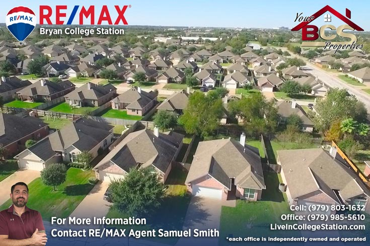 edelweiss gartens subdivision college station texas aerial view of suburb