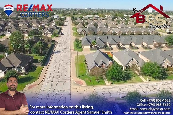 edelweiss gartens subdivision college station texas aerial view of neighborhood