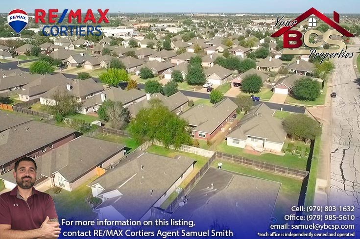 edelweiss gartens subdivision college station texas aerial view of suburban home
