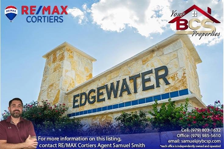 edgewater subdivision bryan texas entrance