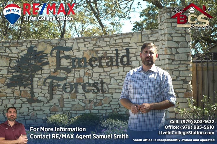 emerald forest subdivision college station tx entrance