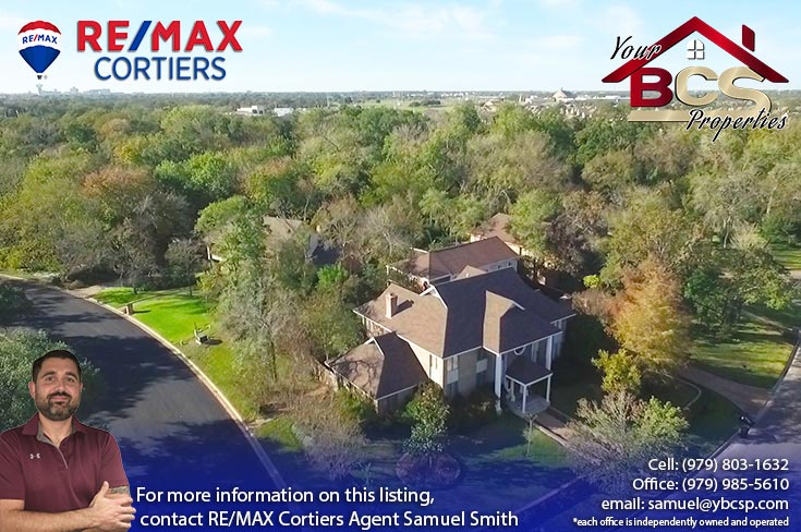 emerald forest subdivision college station tx aerial view of grandiose suburban home