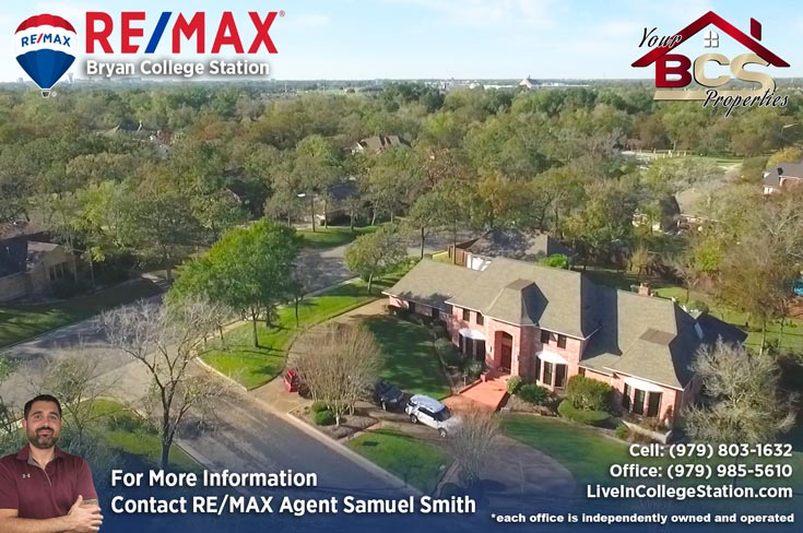 emerald forest subdivision college station tx aerial view of elegant suburban home