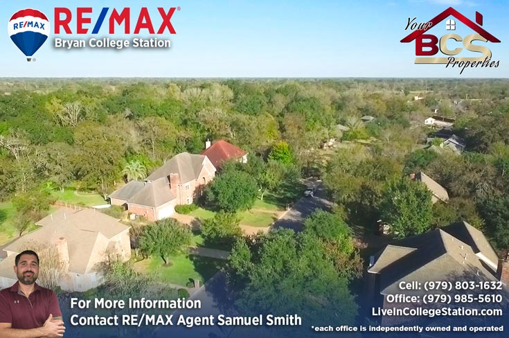 emerald forest subdivision college station tx aerial view of subdivision