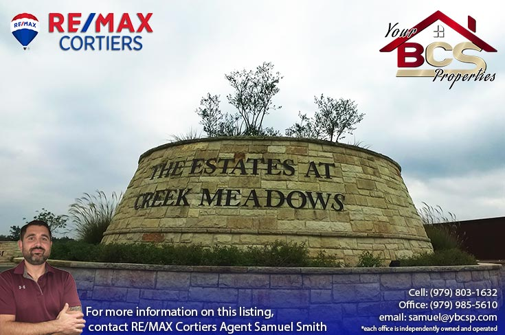 estates at creek meadows college station texas entrance structure