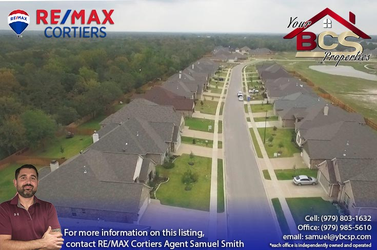 estates at creek meadows college station texas aerial view of neighborhood