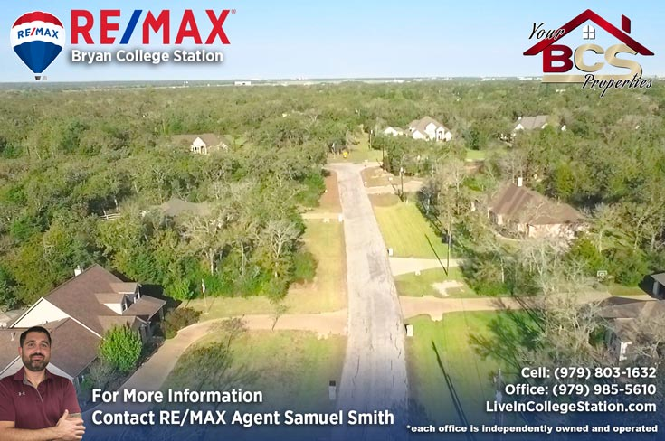 great oakes estates college station tx aerial view of subdivision