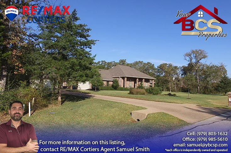 great oakes estates college station tx suburban home on wooded lot