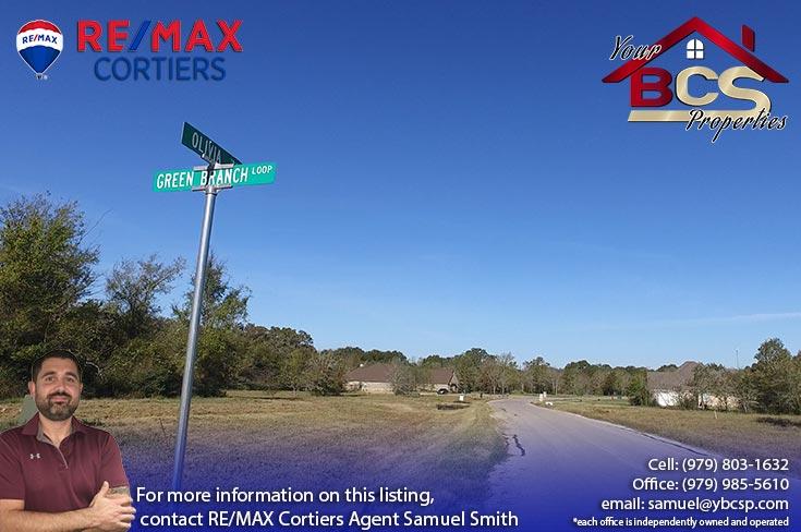 green branch ridge subdivision bryan texas street sign