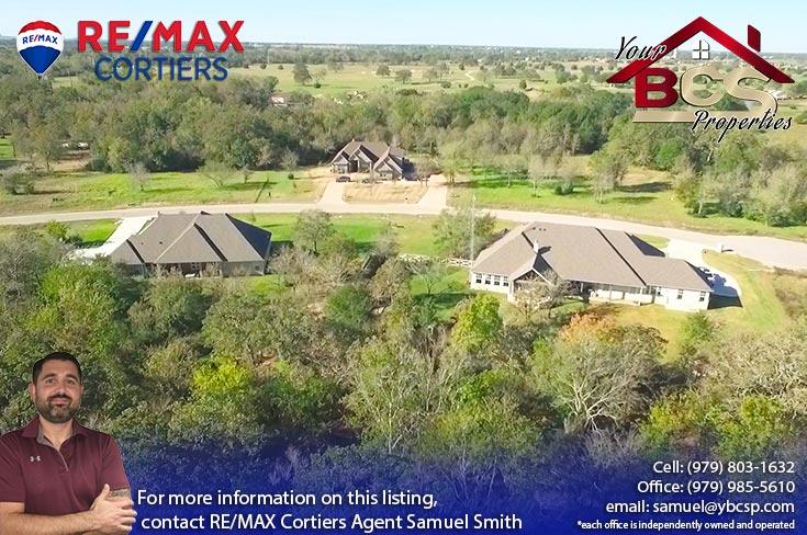 green branch ridge subdivision bryan texas aerial view of neighborhood