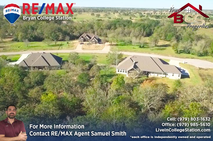 green branch ridge subdivision bryan texas aerial view of neighborhood