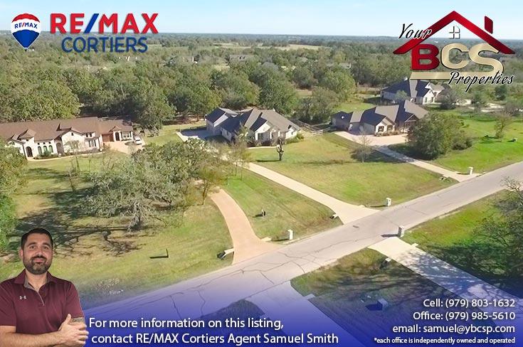 green branch ridge subdivision bryan texas aerial view of grandiose home
