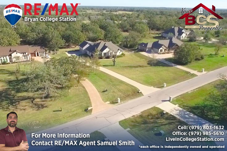 green branch ridge subdivision bryan texas aerial view of grandiose home