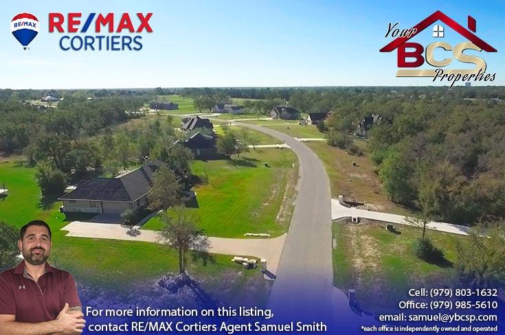 green branch ridge subdivision bryan texas aerial view of suburban street