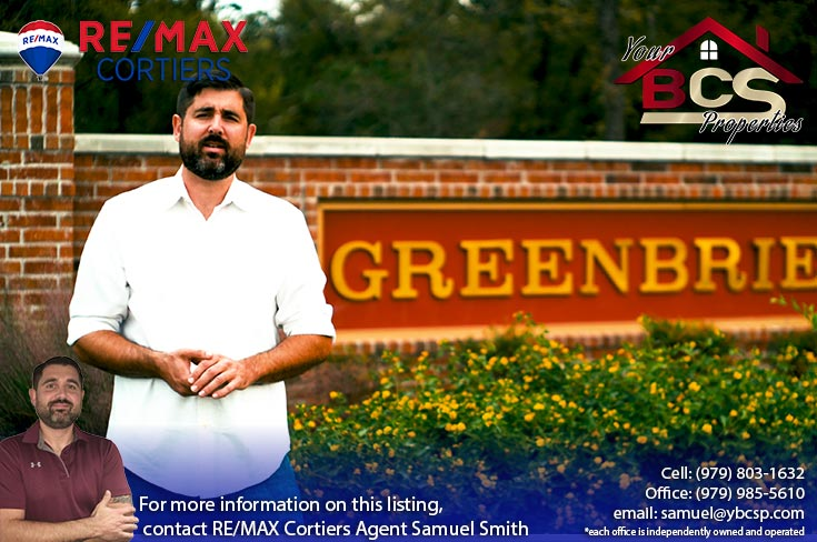 greenbrier subdivision bryan texas entrance landmark