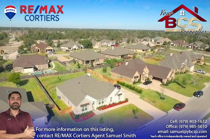 greenbrier subdivision bryan texas aerial view of subdivision