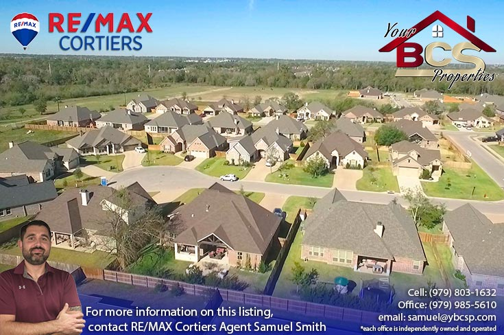 greenbrier subdivision bryan texas aerial view of subdivision and surroundings