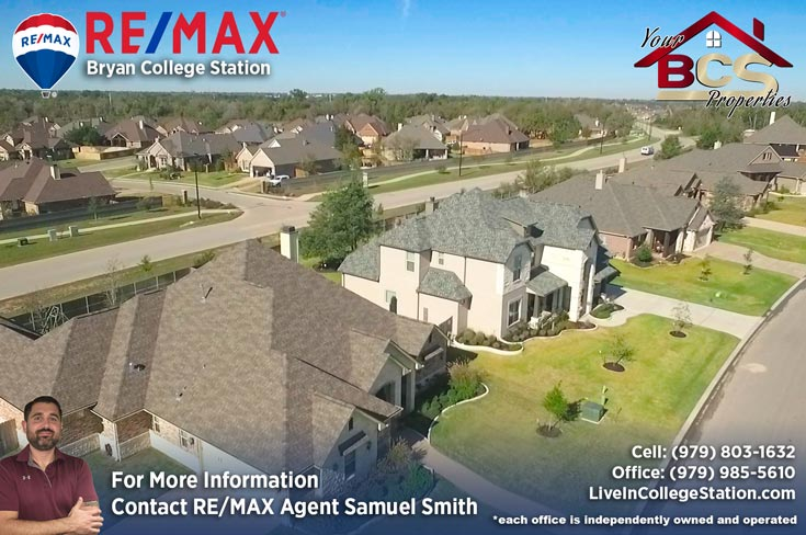 greenbrier subdivision bryan texas aerial view of  suburban homes