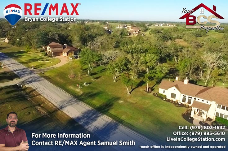 hidden oaks estates bryan texas aerial view of suburban home on wooded lot