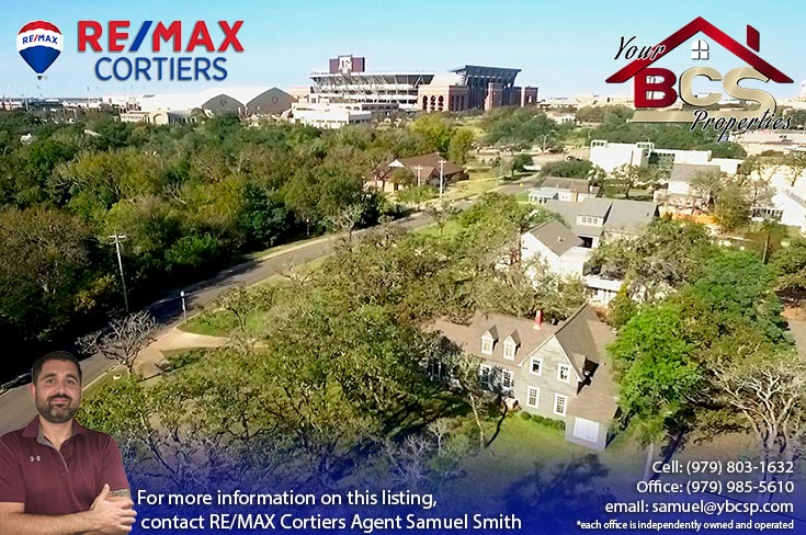 historic college station texas neighborhood with view of kyle field