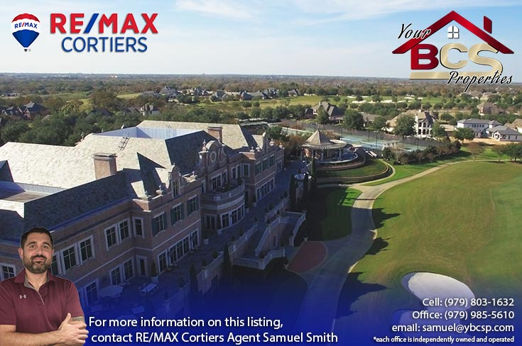 miramont bryan texas subdivision clubhouse with view of tennis courts