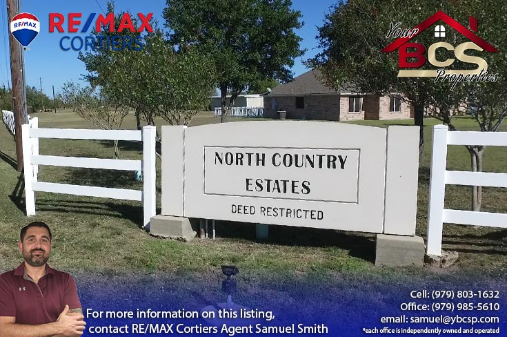 north country estates bryan texas entrance landmark