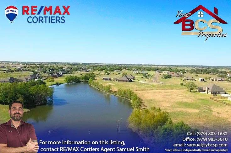 north country estates bryan texas aerial view of home near lake