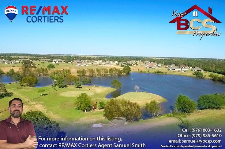 north country estates bryan texas aerial view of lake