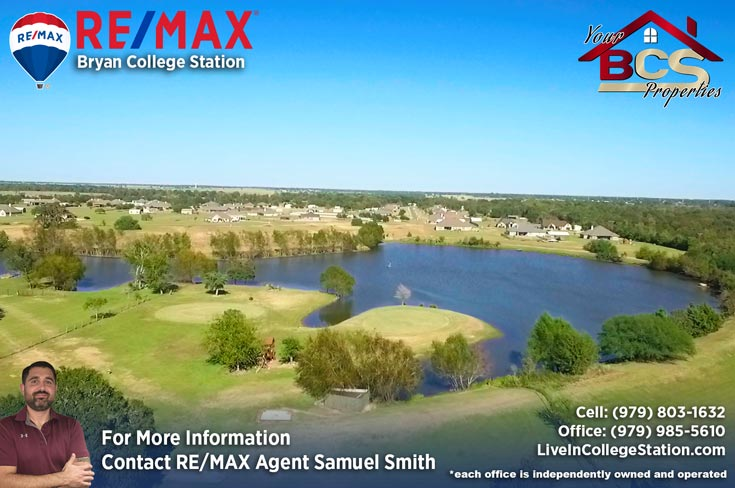 north country estates bryan texas aerial view of lake
