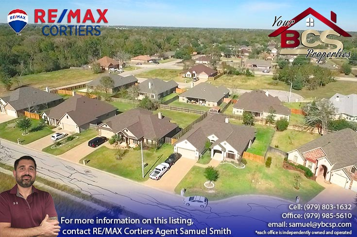 park meadow subdivision bryan tx aerial view of subdivision