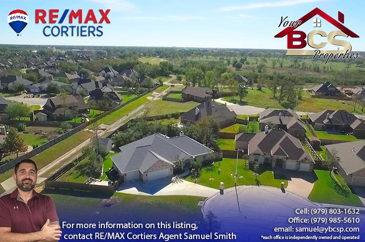 park meadow subdivision bryan tx aerial view of homes and surrounding landscape