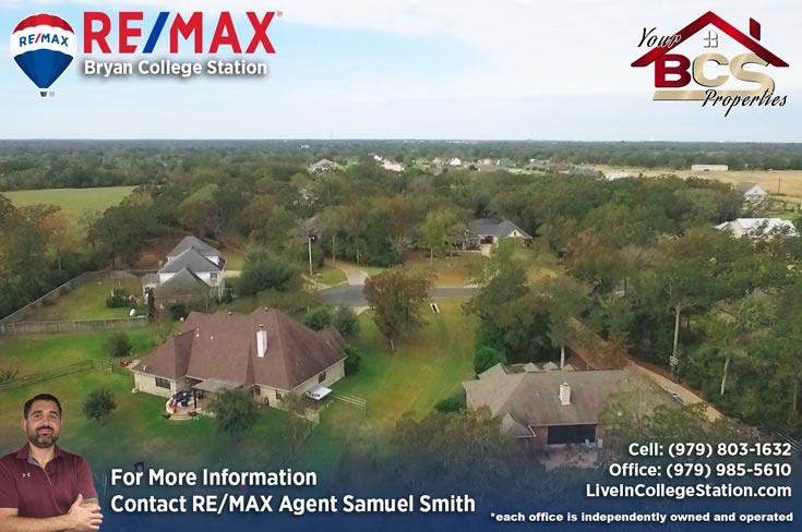 peach crossing college station texas aerial view of suburban neighborhood