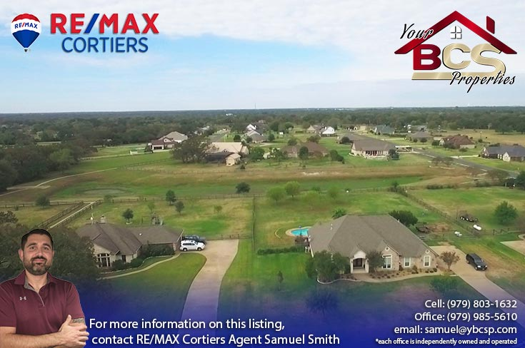 peach crossing college station texas aerial view of suburban neighorhood with greenspace
