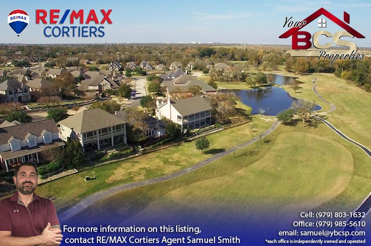 pebble creek college station tx  suburban homes on golf course