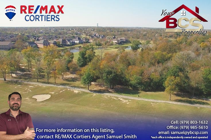 pebble creek college station tx  aerial view of golf course and greenspace