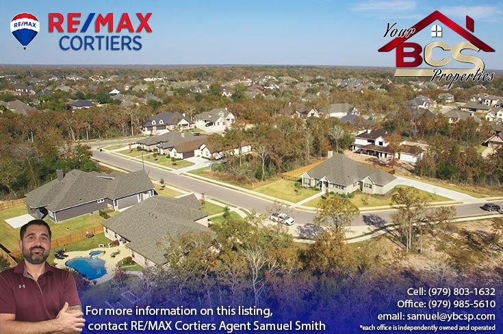 pebble creek college station tx  view of suburban homes