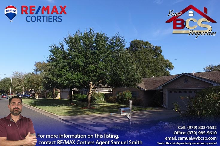 raintree subdivision college station home with curb appeal