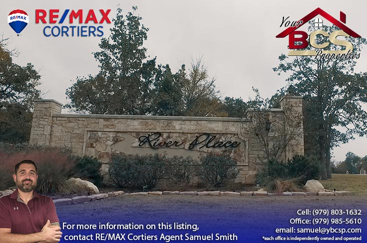 river place subdivision college station tx entrance landmarker