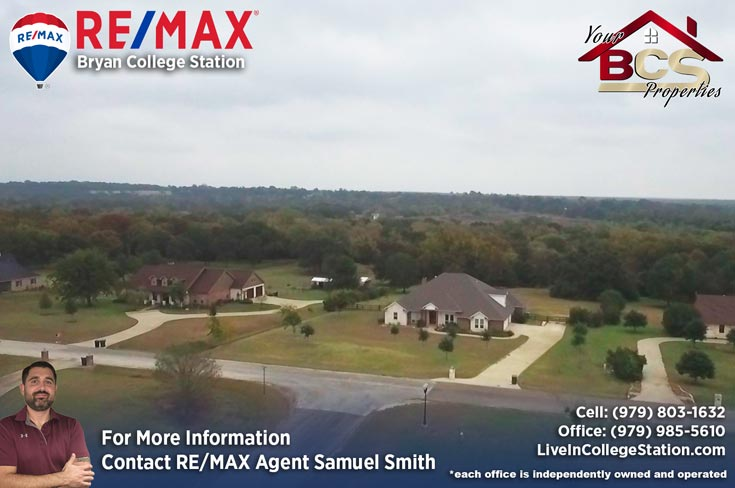 river place subdivision college station tx aerial view of home on wooded lot