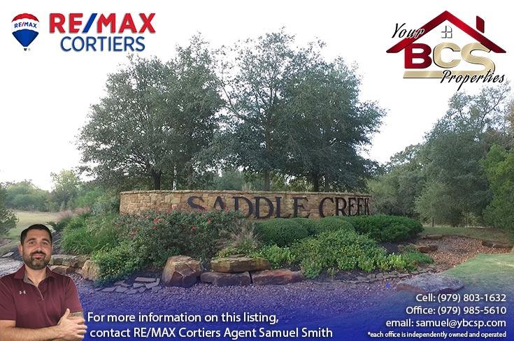 sadle creek college station texas entrance landmarker