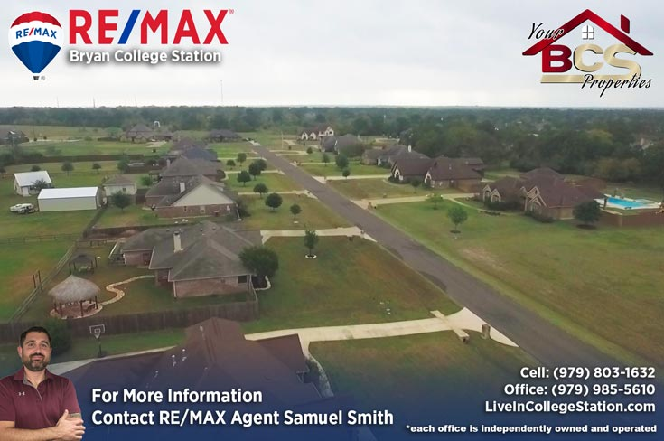 sadle creek college station texas aerial view of neighborhood