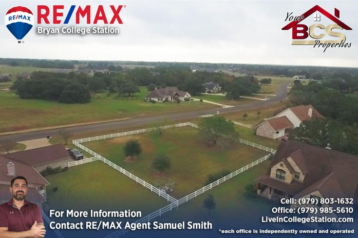 sadle creek college station texas aerial view of homes on large lots