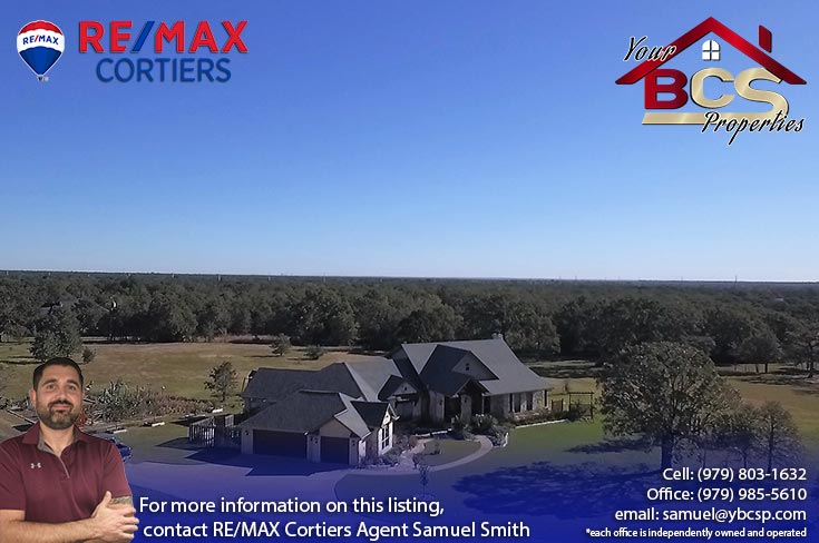 sendera subdivision college station aerial view of elegant home