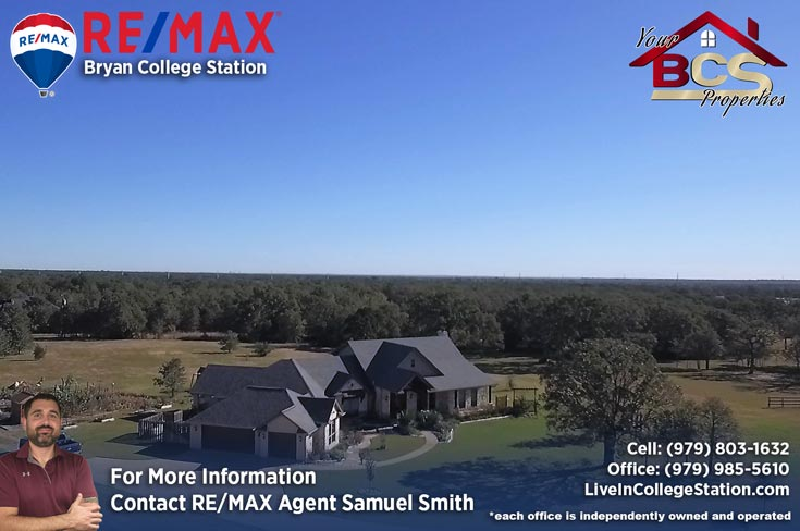 sendera subdivision college station aerial view of elegant home