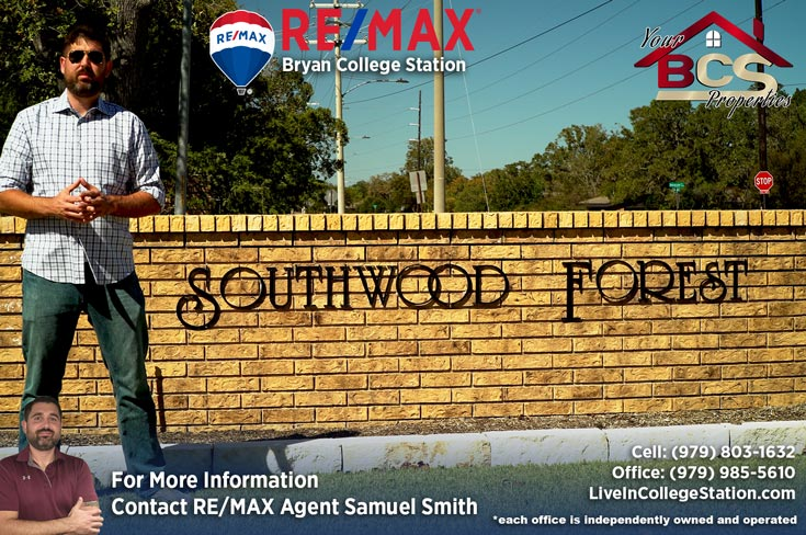 southwood forest college station texas southwood forest entrance marker